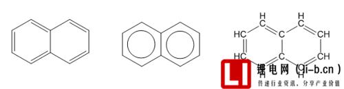 萘分子结构示意图