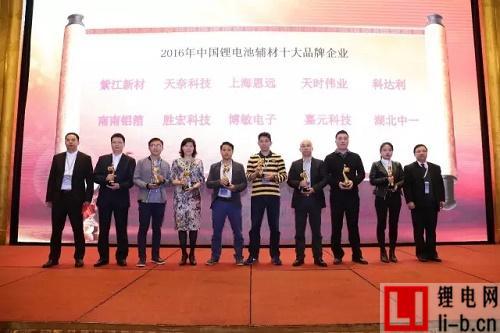 2016年度中国锂电池辅材十大品牌