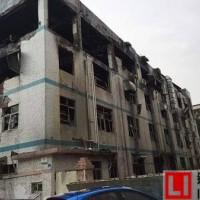 深圳美拜电子起火爆炸现场一片狼藉,损失惨重 (图)