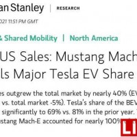 特斯拉美国市场2月份额下降,福特野马Mach-E异军突起